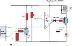 Simple Circuit Diagram using PIR Sensor (PIR = SENZOR PASIV IN ...