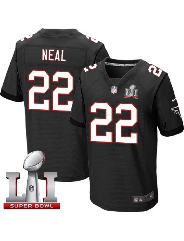 Atlanta Falcons Nike Men s  22 Keanu Neal Elite Black Alternate Super Bowl  LI 51 da7e2e8e2