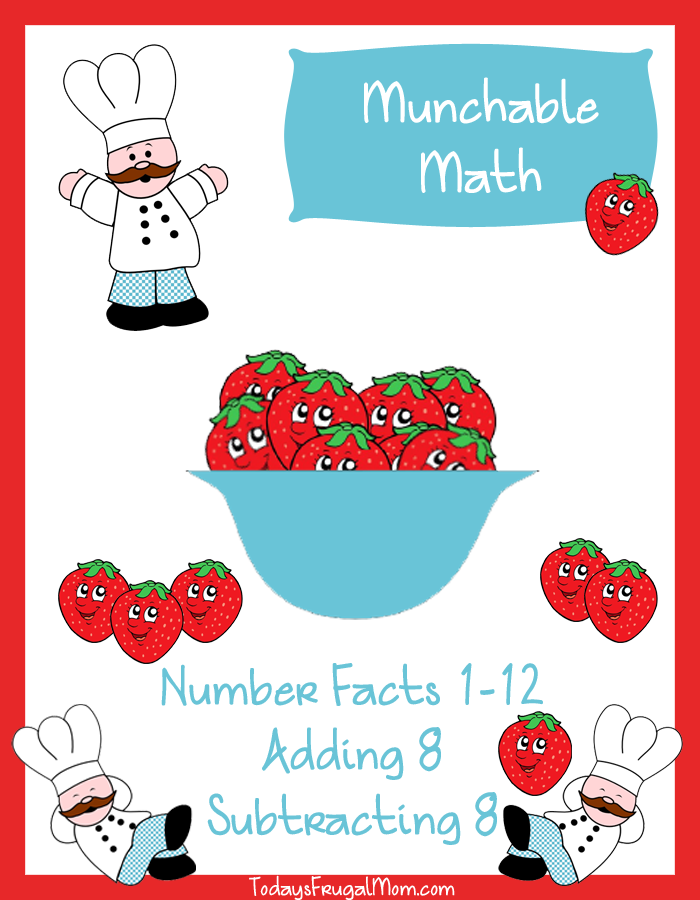 FREE Elementary Math Worksheets-Munchable Math Strawberries ...