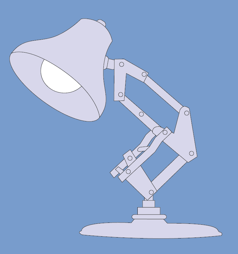 Luxo Lamp Drawing In Illustrator Lamp Infographic Poster Drawings