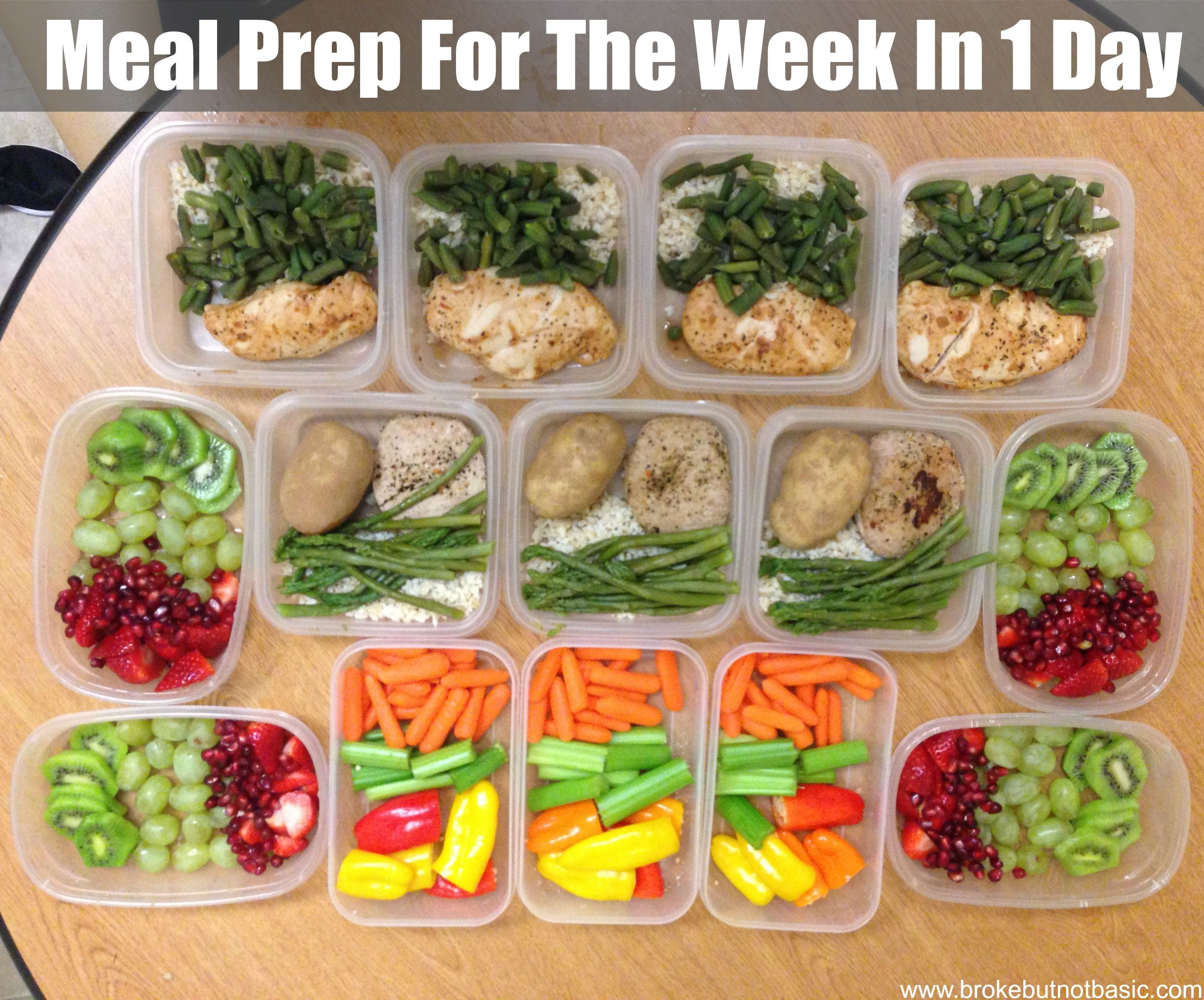 Meal Prep 101: Meal Prep For The Week In 1 Day  Broke But Not