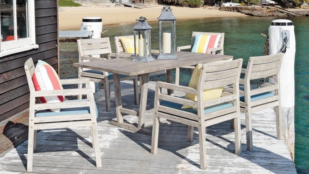 Costas 7 piece outdoor dining setting outdoor dining - Harvey norman living room furniture ...