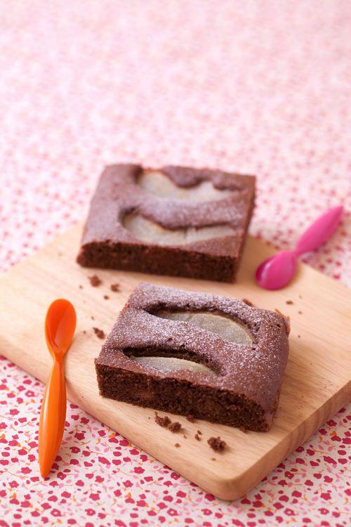 Gâteau aux poires et cacao