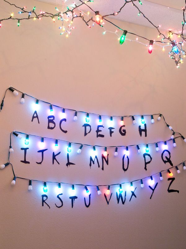 How To Make A Stranger Things Alphabet Sign With Lights Code Woodland Articles Stranger Things Alphabet Stranger Things Lights Stranger Things Christmas