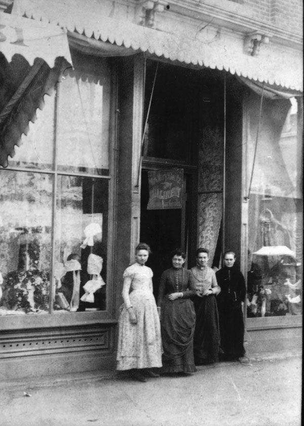 Millinery Shop Front About 1880 Vintage Photographs