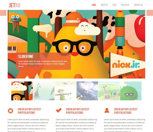 Jetro Flat Corporate Responsive website template. http://w3layouts.com/preview