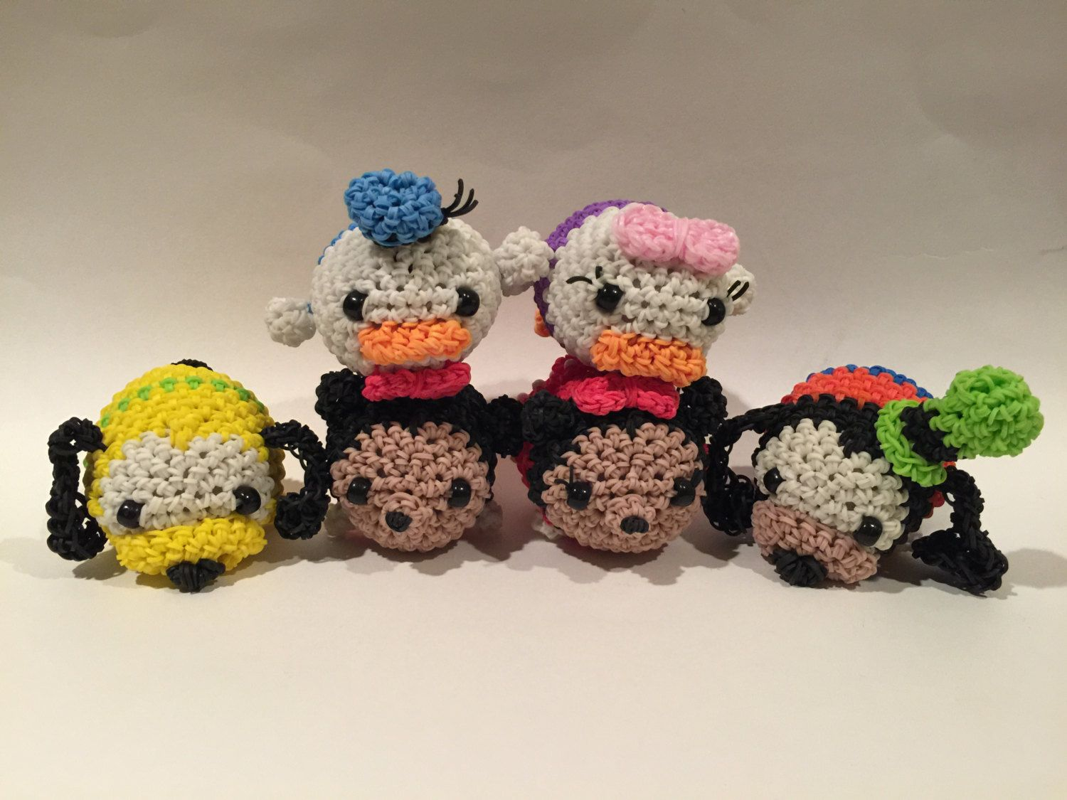 Amigurumi Loom Patterns : Disneys mickey mouse tsum tsum rubber band figure amigurumi by
