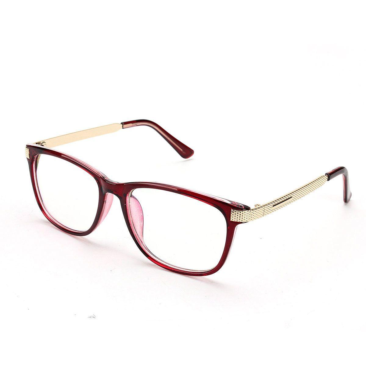 27e5b00838 Unisex Women Men Retro Eyeglass Frame Full-Rim Clear Lens Metal Plain  Glasses at Banggood