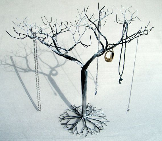 Gold Jewelry Tree Stand Jewelry Holder Organizer Tall For Necklaces And Earrings Wire Tree 8 Jewelry Tree Stand Jewelry Tree Gold Jewelry Tree
