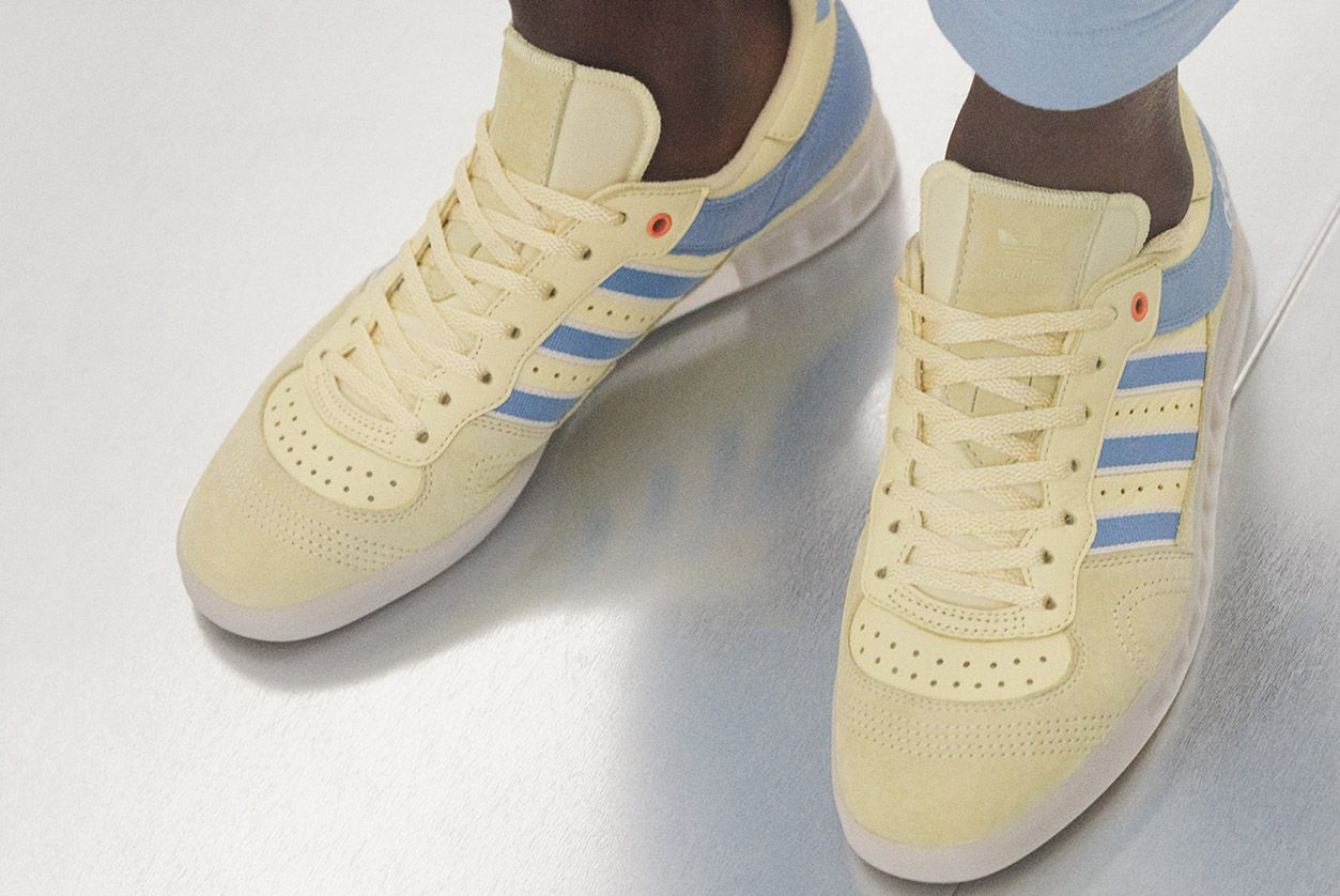 reputable site 32836 cd292 The Oyster Holdings x adidas Originals Handball Top and 350 ...