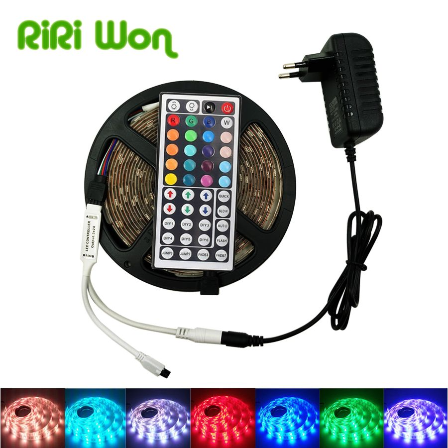 Riri Won Led Strip 5m 10m Waterproof Ribbon Rgb Led Light Smd 5050 Led Flexible Strip Dc12v 4m 8m Rgb L Waterproof Led Lights Rgb Led Lights Led Tape Lighting