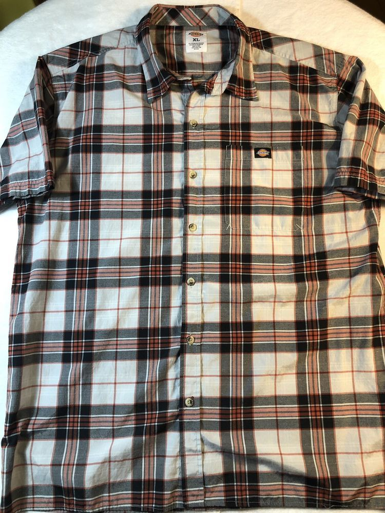 925ee9aa8f7 Dickies Mens XL Short Sleeve Button Front Red Plaid Work Shirt  fashion   clothing  shoes  accessories  mensclothing  shirts (ebay link)