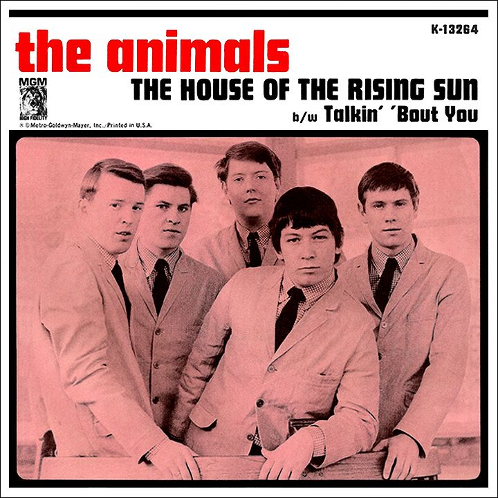 The Animals Us Single 1965 House Of The Rising Sun Rock Album Covers Music History