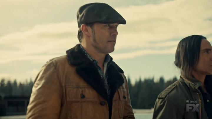 "Fargo 2x02 ""Before The Law"" - Dodd Gerhardt (Jeffrey Donovan) & Hanzee Dent (Zahn McClarnon)"