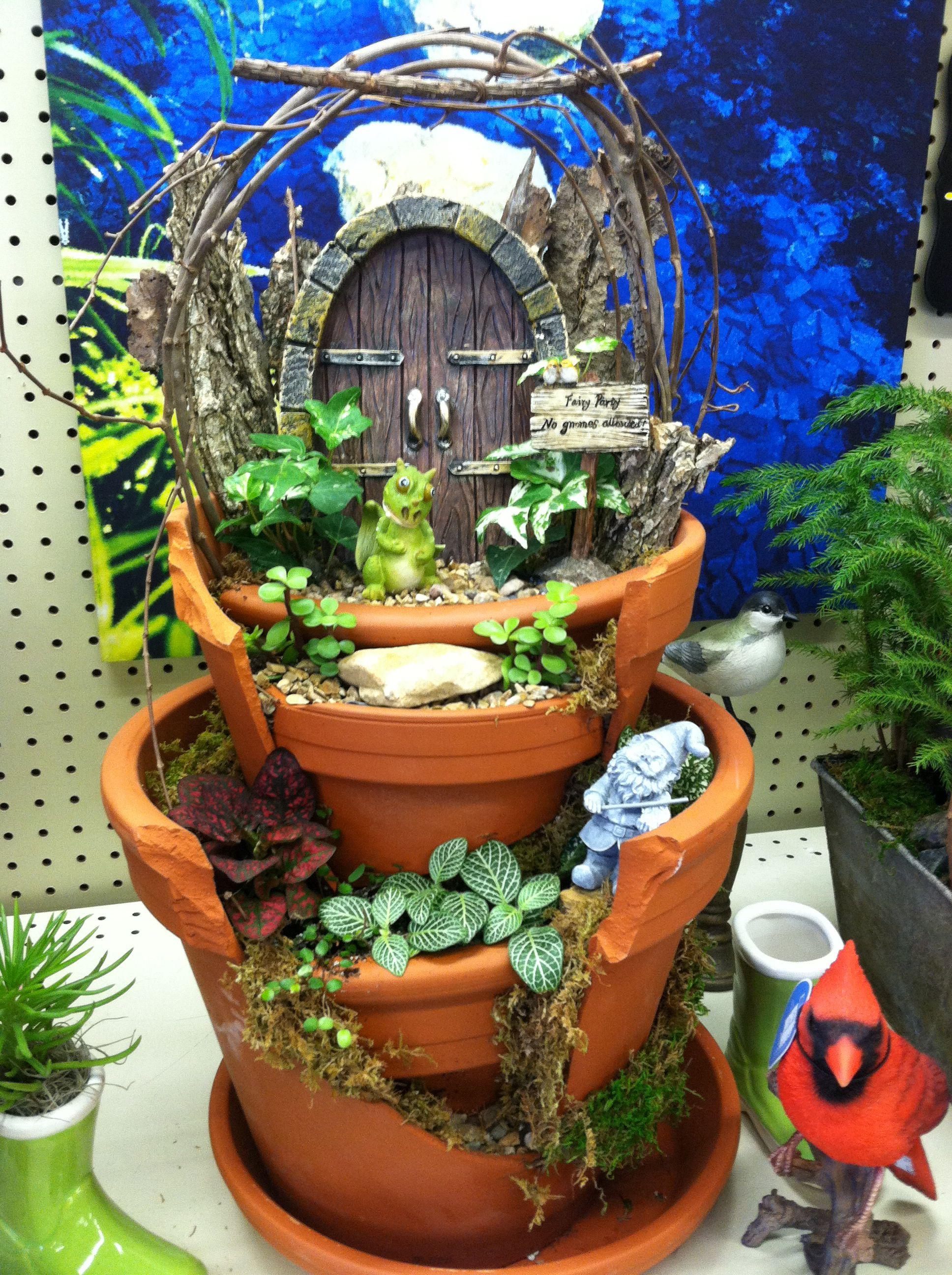 No Gnomes Allowed Designed By Kristin Middleton Fairy Garden Miniature Fairy Gardens Miniature Garden