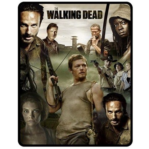 "Walking Dead Throw Blankets Cool The Walking Dead Tv Series Fleece Blanket 50""x60"" Medium  Blanket Design Ideas"