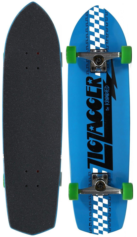 Krooked Zig Zagger 8 6 Cruiser Complete Skateboard - blaster
