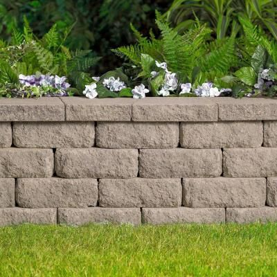 Pavestone 4 In X 11 75 In X 6 75 In Savannah Concrete Retaining Wall Block 81127 The Home Depot Landscaping Retaining Walls Concrete Retaining Walls Stone Retaining Wall