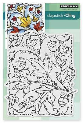 Autumn Dance - Slapstick Cling Rubber Stamp
