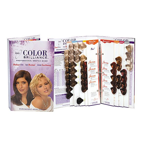 The Ion Color Brilliance Hair Color Swatch Book Contains Color
