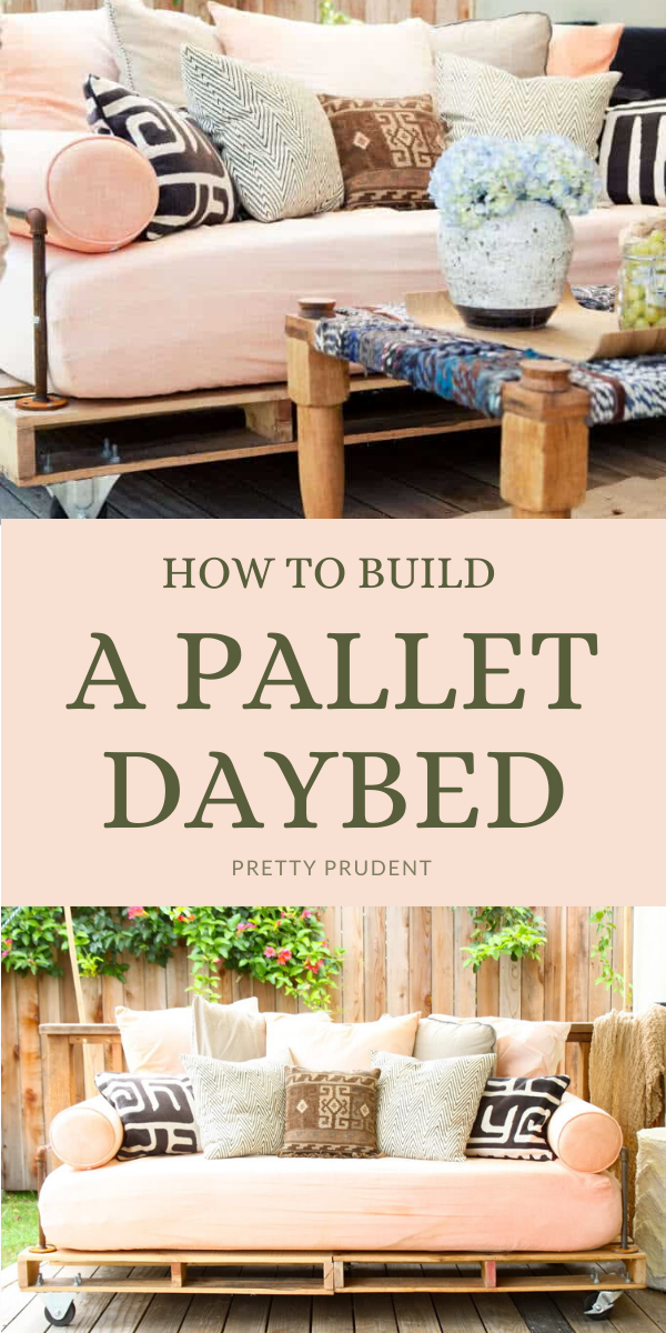 How To Build A Pallet Daybed In 2020 Pallet Daybed Diy Daybed Pallet Diy