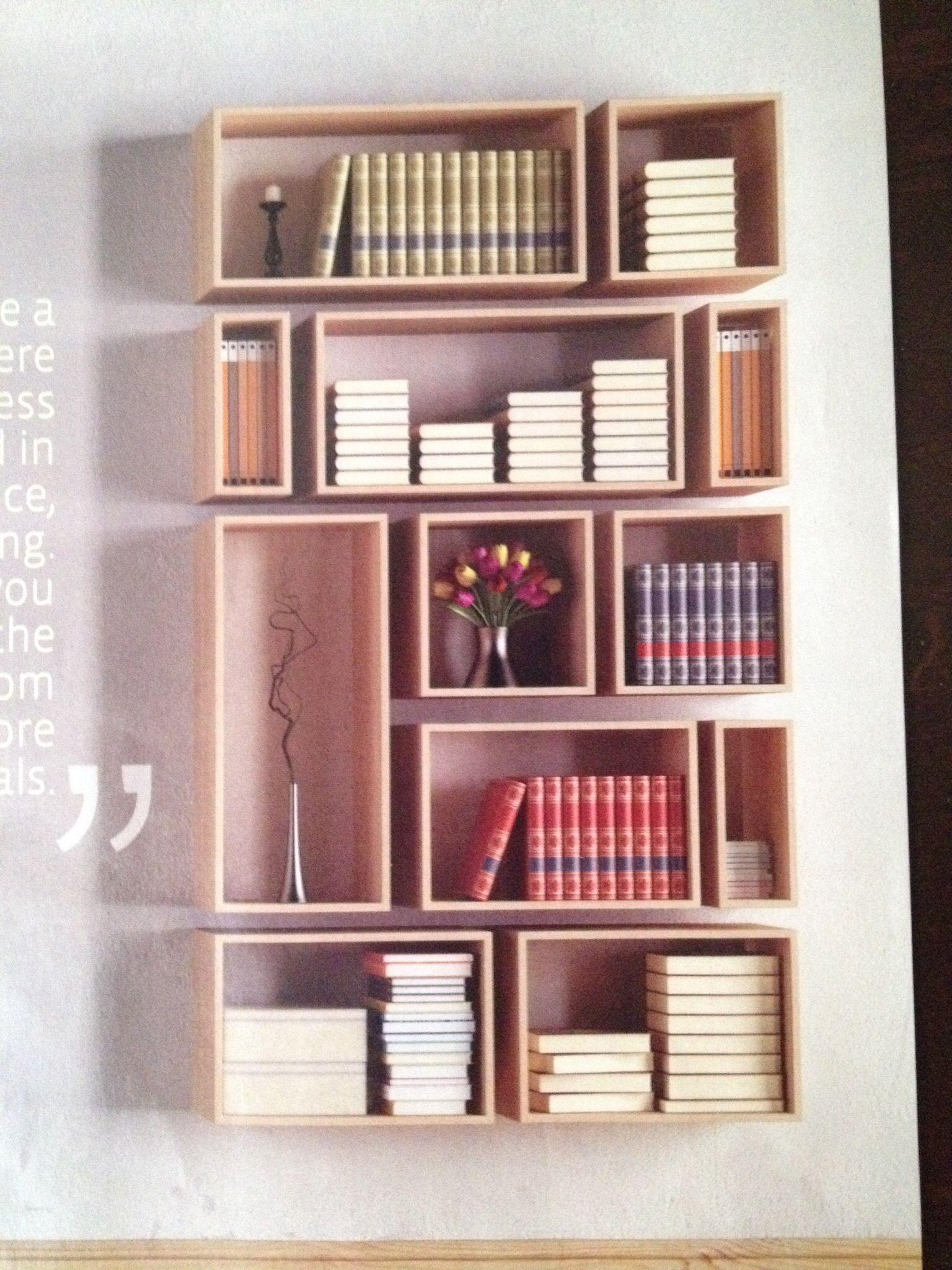 Minimalist shelving basement pinterest libreros - Muebles para libros modernos ...