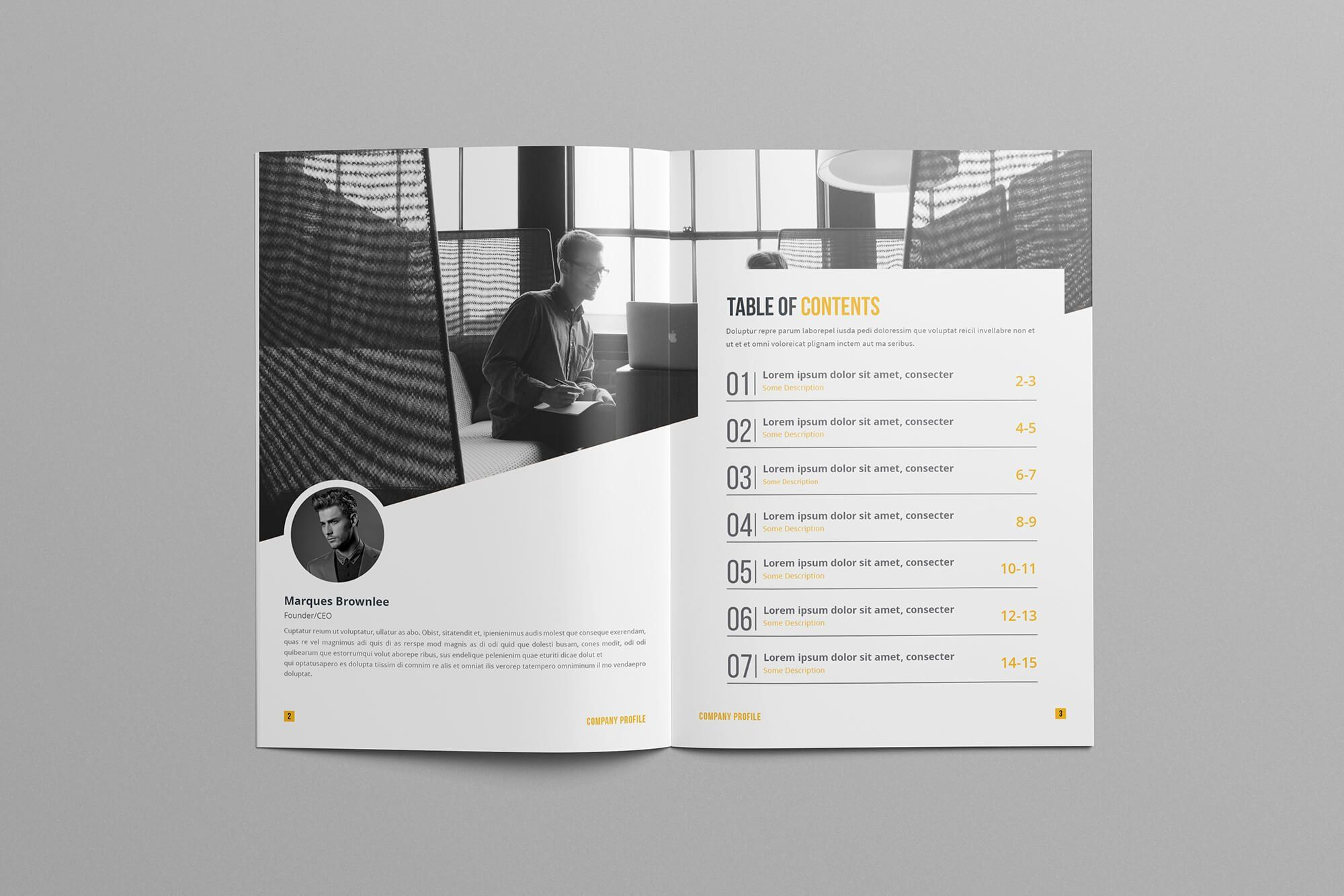 Company Profile Brochure Template (avec images)