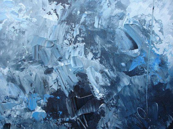 ELENA large abstract painting textured painting por ElenasArtStudio