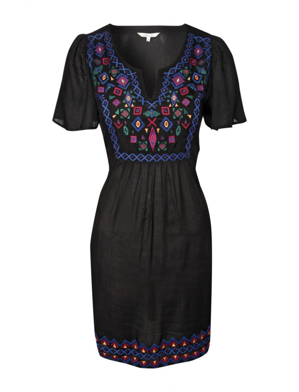 Womens embroidery detail tunic for a pretty smartcasual