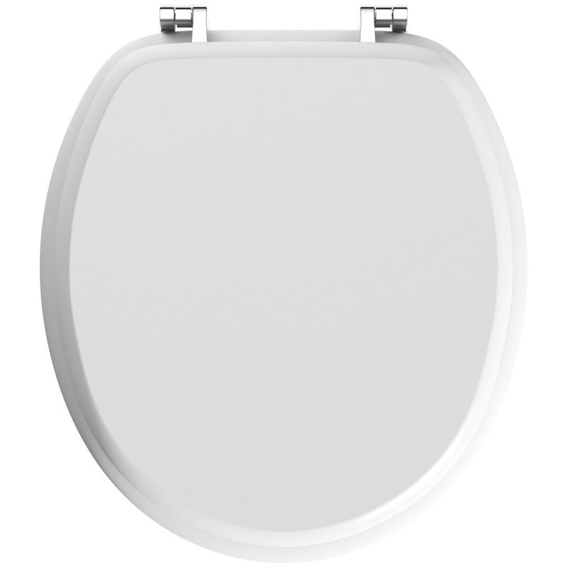 Incredible Celmac Wirquin Wooden Toilet Seat With Stainless Steel Hinge Caraccident5 Cool Chair Designs And Ideas Caraccident5Info