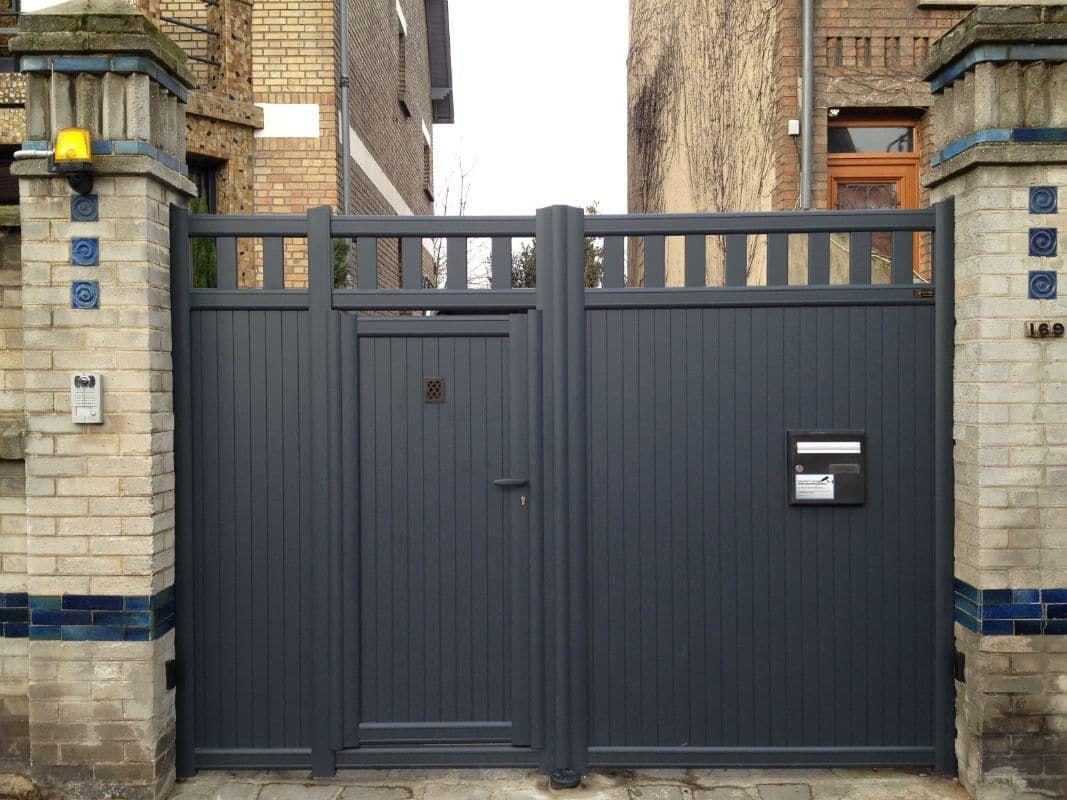Portail Aluminium Battant Vento Haut M Portail Battant Alu - Porte placard coulissante et portail avec portillon intégré