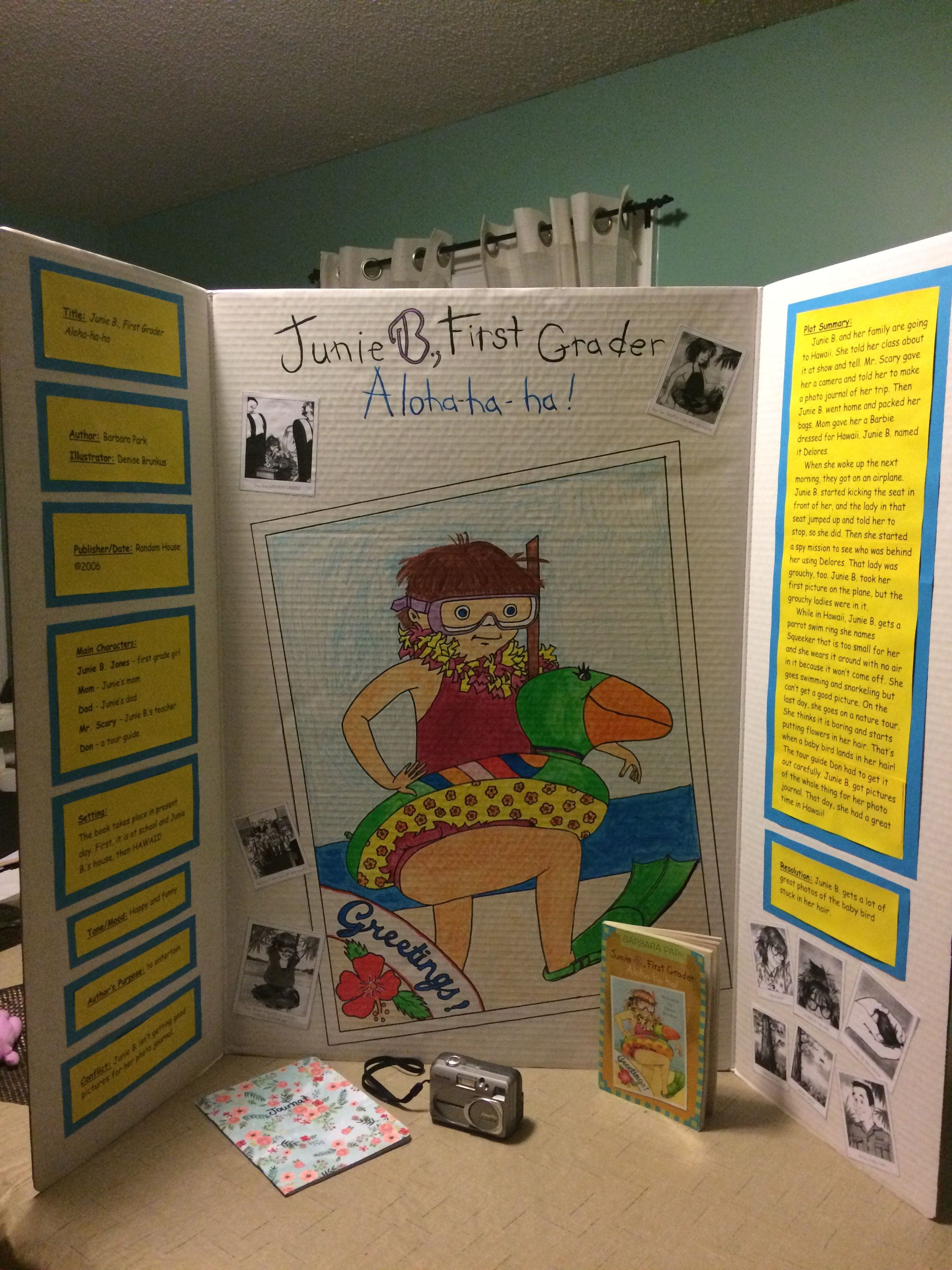 Junie B Jones Aloha ha ha reading fair board idea. | Hawaii Unit ...