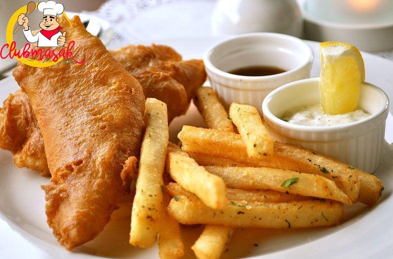 Resep Fish And Chips Ikan Dori Yang Enak Resep Fish N Chips Makanan Saus Ikan Resep Makanan