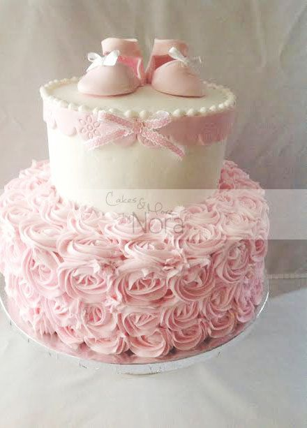 Simple Girl Baby Shower Cakes