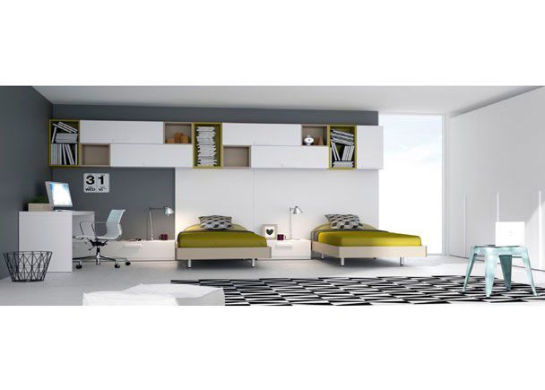 Habitaci n juvenil con 2 camas para dos hermanos for Habitacion juvenil 2 camas