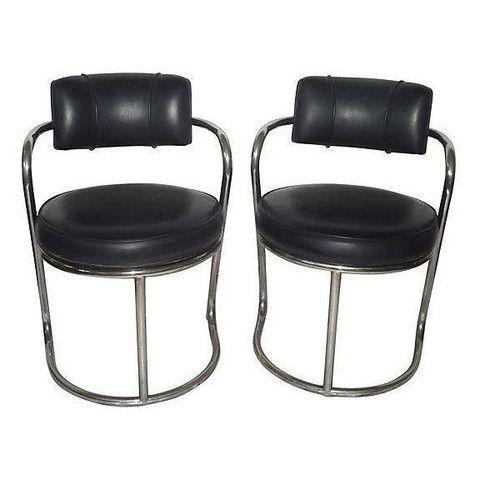 Vintage Mid Century Chrome Zig Zag Chairs Chair Chrome