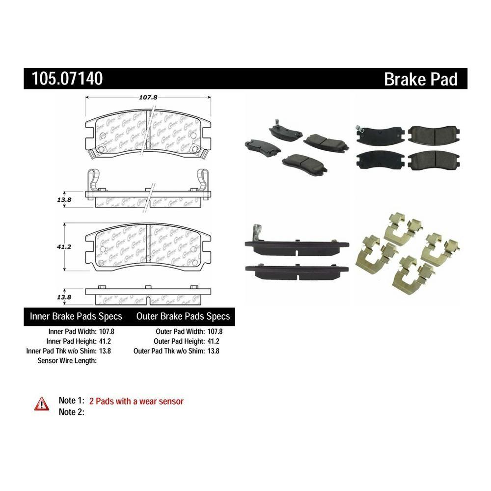 Centric Parts Disc Brake Pad Set 105 07140 Brake Pads Oldsmobile Toronado Saab 9 7x