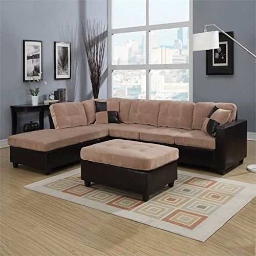 Charmant ACME Furniture Milano 51230 Sectional Sofa With 2 Pillows Camel Champion  Espresso PU Caramel *** For More Information, Visit Image Link. (This Is U2026