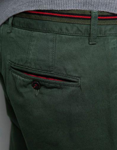 Chinos with Ribbon Detail by ZARA Mens Chino Pants dc139fcc2f3