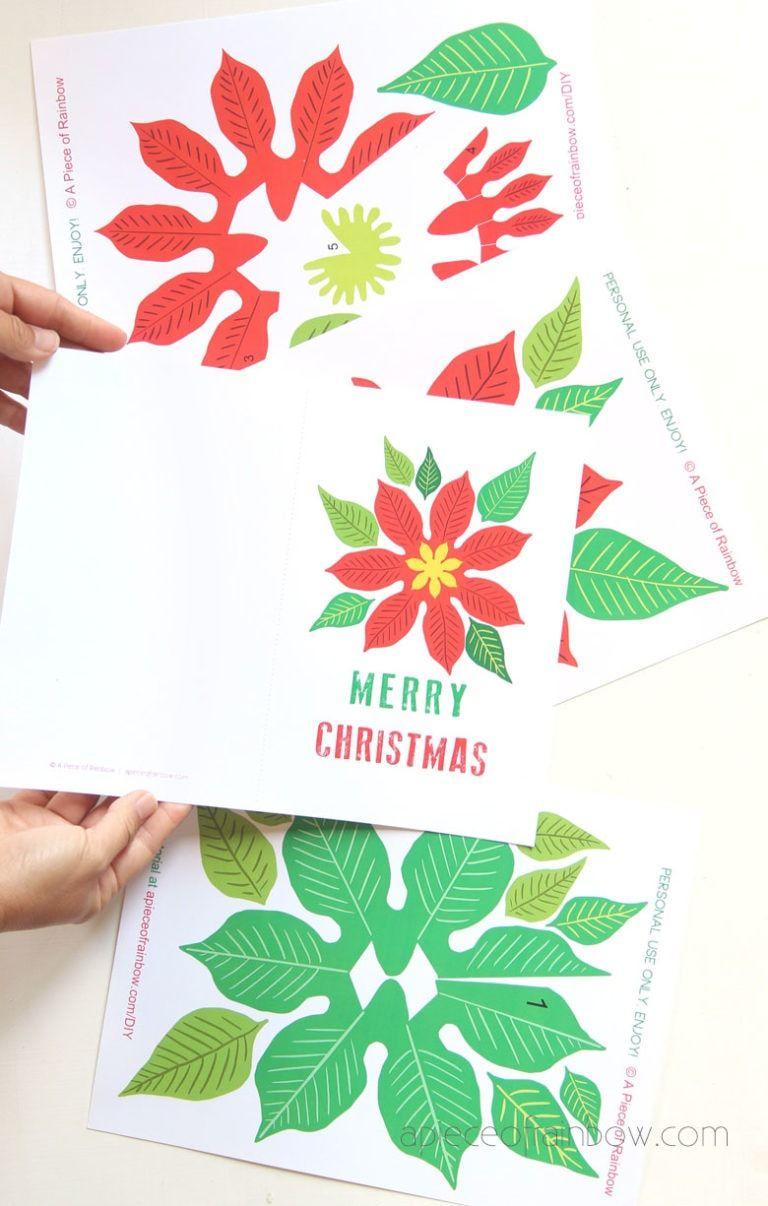 Festive Diy Pop Up Christmas Card Free Template Christmas Cards Free Christmas Card Template Diy Christmas Cards