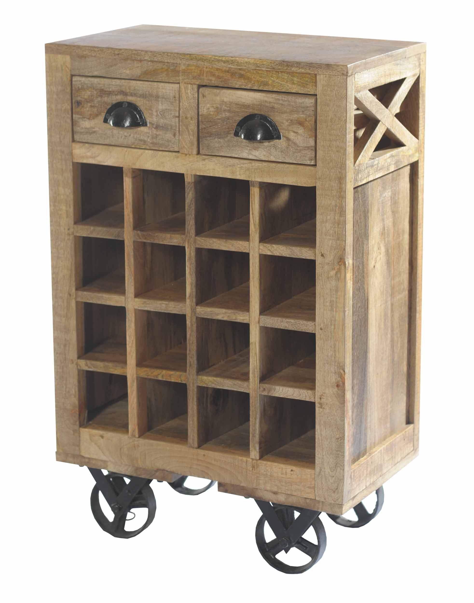 Amazon.com: HOMELEGANCE 6481 Wood Wine Cart with Rack on Wheels, Brown: Home & Kitchen