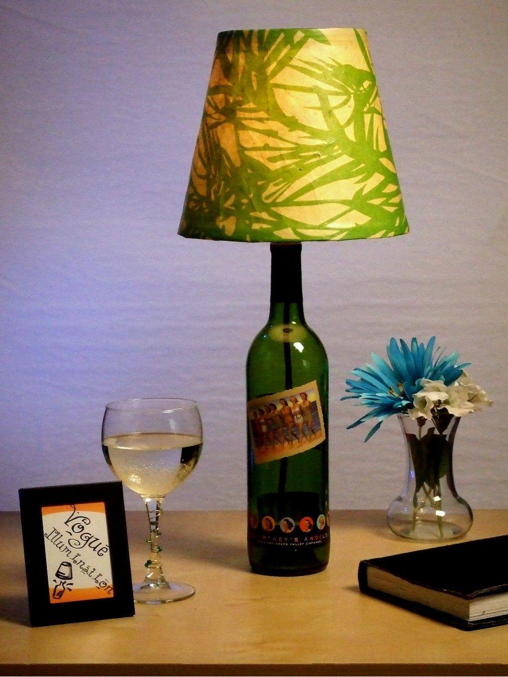 Wine Bottle Lamp Shade Flaschenleuchten Weinflaschen Lampen