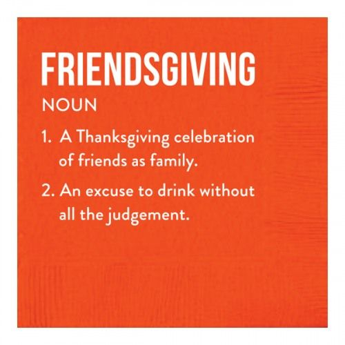 Friendsgiving Beverage Napkins #friendsgivingfood