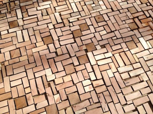 Awesome Wood Brick Floor With Without Cement Brick Flooring Wood Flooring