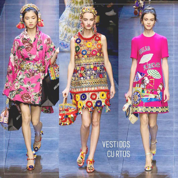 Vestidos curtos_OK Coleção D&G MFW- SS/2016