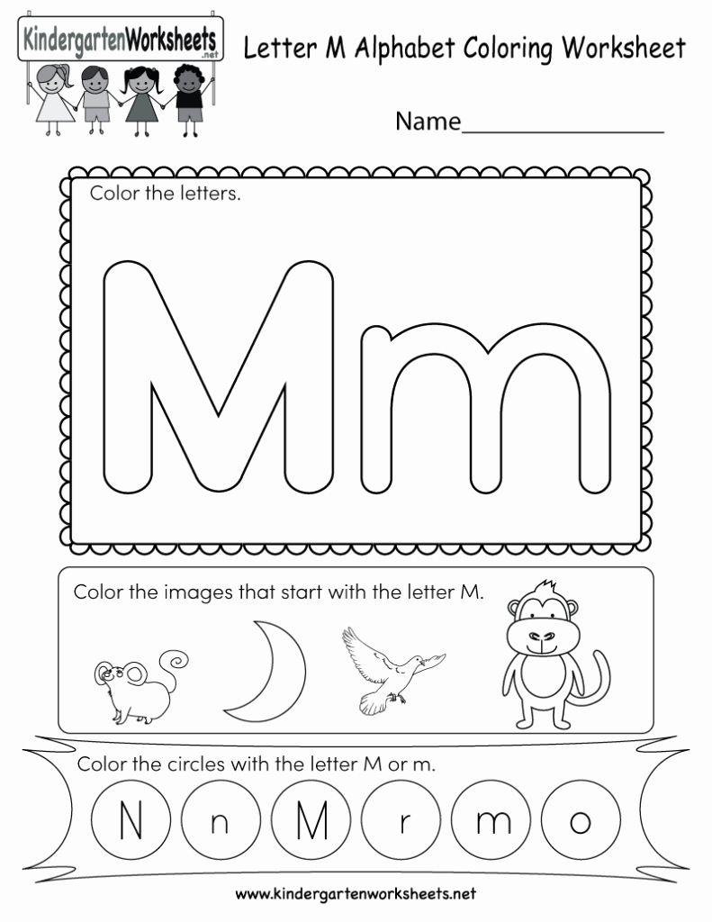 Worksheets For Kindergarten Letter M In 2020 Letter M Worksheets Alphabet Worksheets Kindergarten Kindergarten Letters