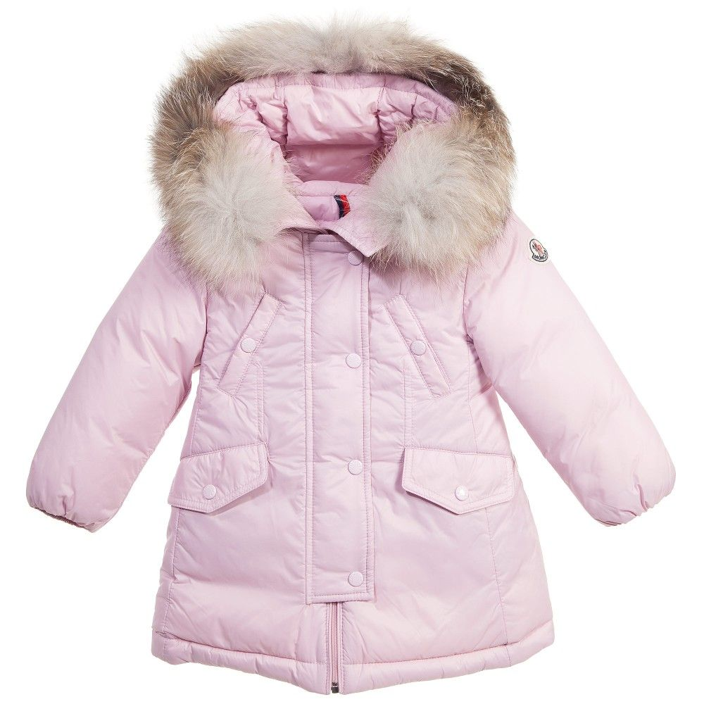 Baby Girls Pink 'Arrious' Down Padded Coat | Moncler, Babies and Girls