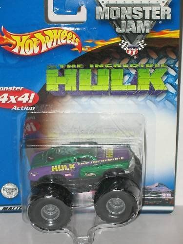2002 Hot Wheels Monster Jam Metal Collection Red Dot Incredible Hulk 1 64 Scale Collectible Truck By Mattel 49 Hot Wheels Monster Jam Small Trucks Hot Wheels
