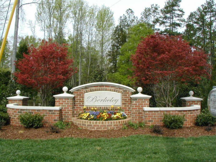 neighborhood entrance landscaping
