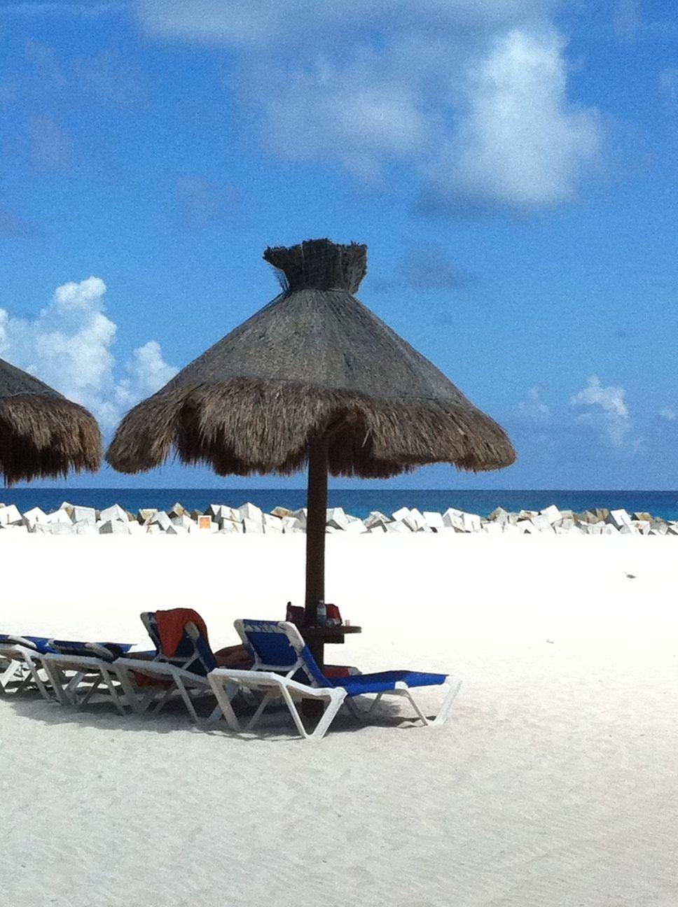 My shot of a Beach Umbrella near the DREAMS Resort in